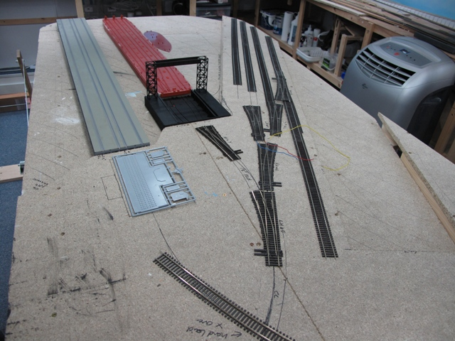 Laying out the dock