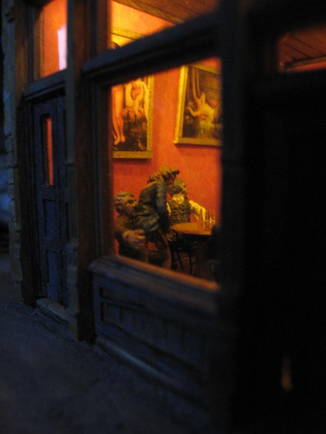 Bordello saloon interior