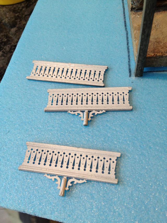 Plastic porch railing mouldings