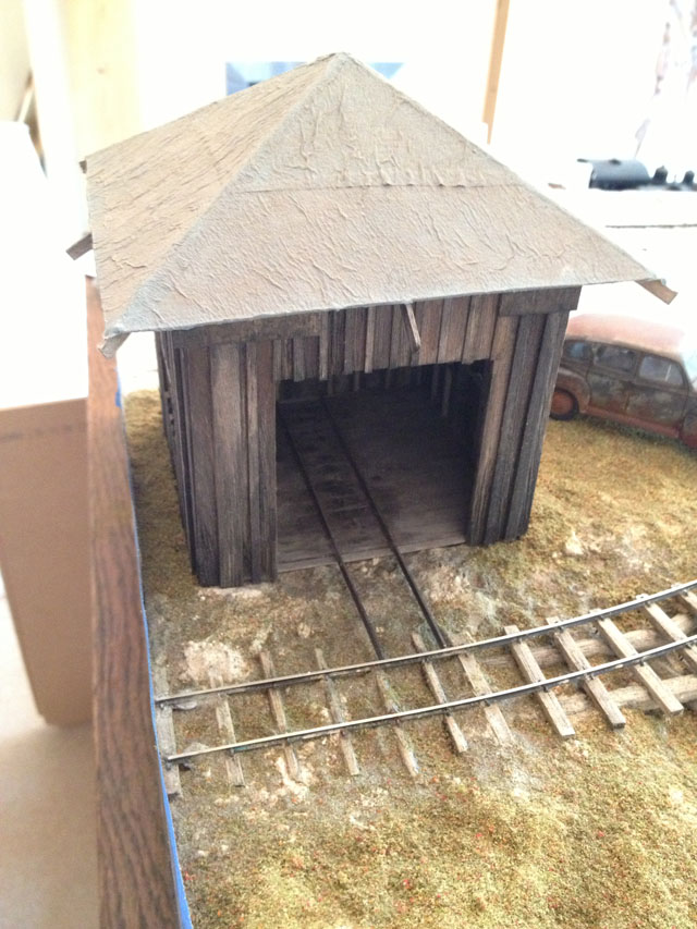 Hand Car Shed in place
