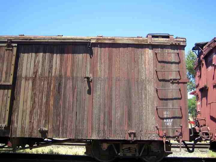 Faded box car