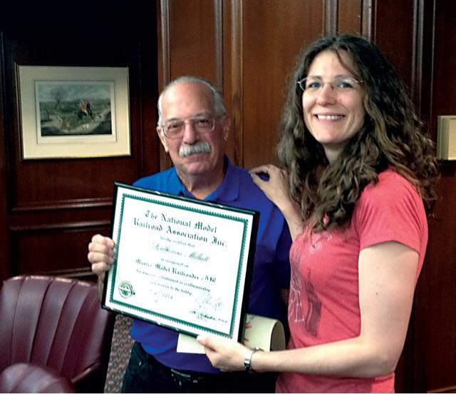 Frank Koch awarding my MMR