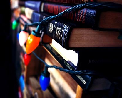 book-stack-books-christmas-lights-436692
