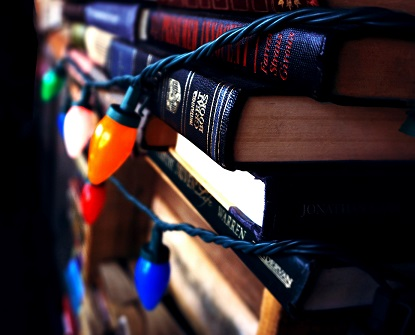 book-stack-books-christmas-lights-436692