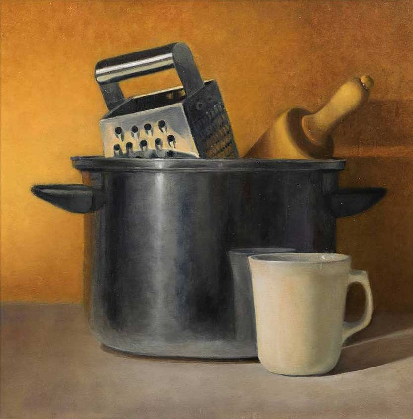 Kitchen Equipment with White Cup - Kathy Roseth