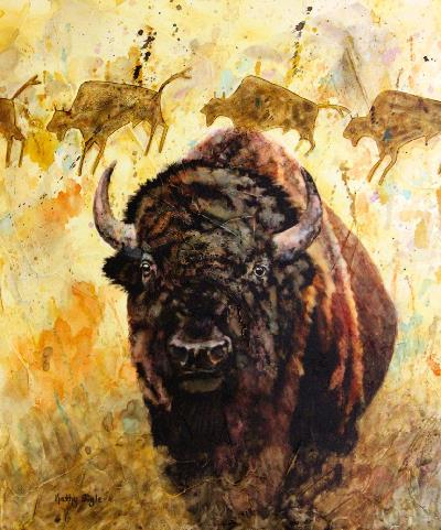 Bison Rock Art