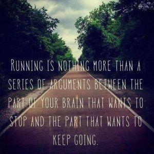a a running