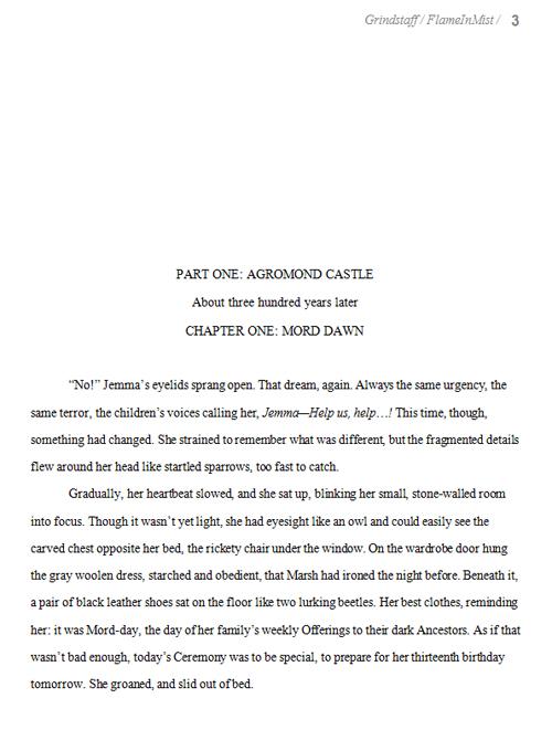 Formatting Novel Manuscript Example Writing And Illustrating