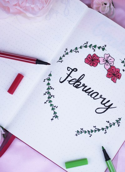 A Look inside my bullet journal: February