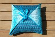 Blue Square reversible Cushion
