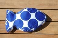 Bubbling Blue - Fish Pillow