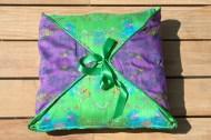 Green Square reversible Cushion