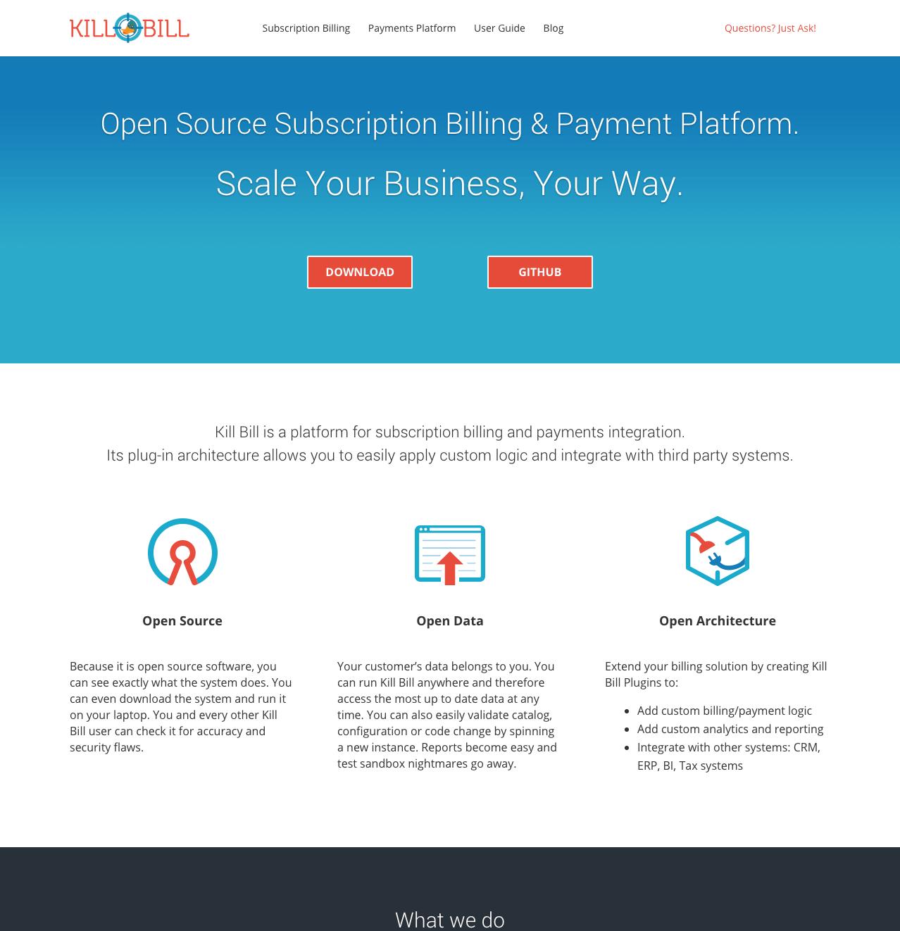 Open Source Subscription Billing Payment Platform Kill Bill