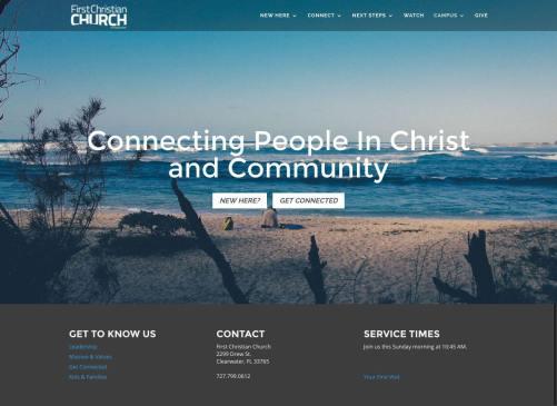 First Christian Church - Churches Using Divi