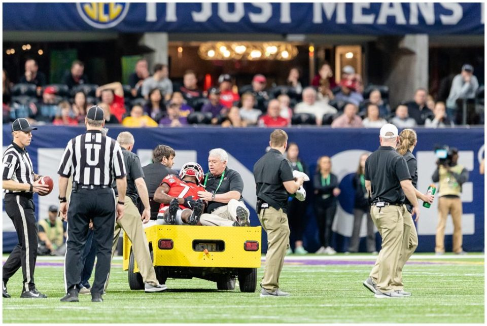 Shooting the SEC Championship Blog injured Georgia player carted off field