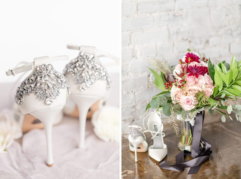 Wedding Heels & Bouquet A Chic Wedding at the Theodore Birmingham - Birmingham, Alabama Wedding Photographers