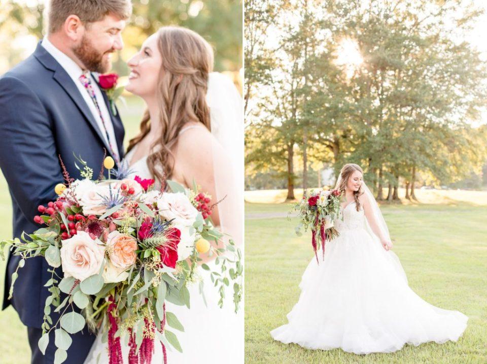 Sunset photos Molly & Evan's Mathews Manor Wedding - Birmingham, Alabama Wedding Photographers