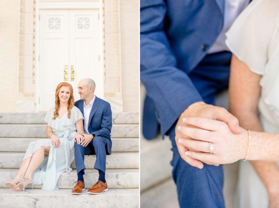 Olivia & Scott Marble Church Engagement Session in Birmingham, Alabama - Katie & Alec Photography