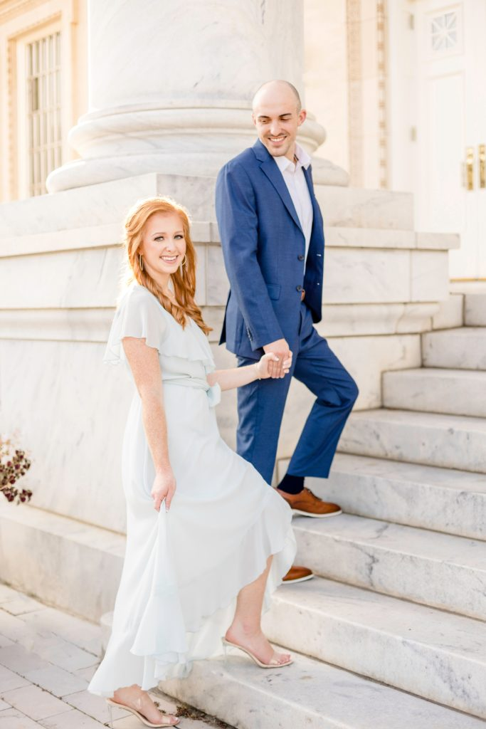Marble Church Engagement Session in Birmingham, Alabama - Katie & Alec Photography