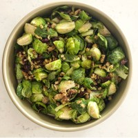 Brussels Sprouts With Walnuts and Cranberry