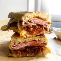 Traditional Cuban Sandwiches With Slow Cooker Pulled Pork