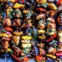Chicken Teriyaki Skewers With Citrus Chimichurri