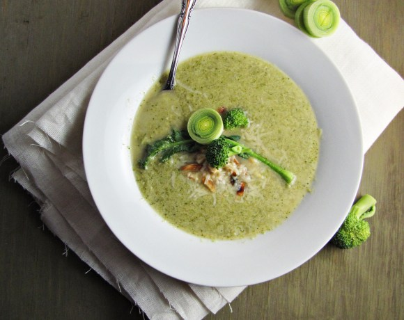 Broccoli and Edamame Soup