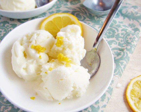 Meyer Lemon and Buttermilk Ice Cream