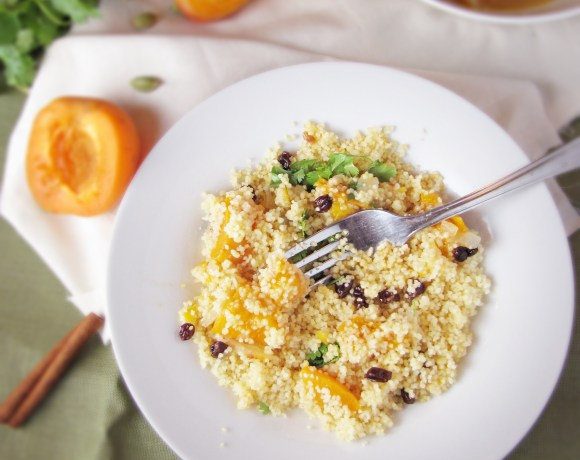 Fresh Apricots & Spiced Couscous