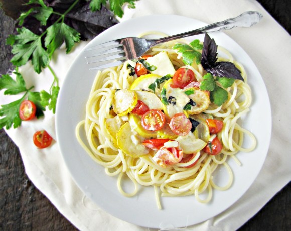 Garden: Spaghetti with Summer Squash and Tomatoes
