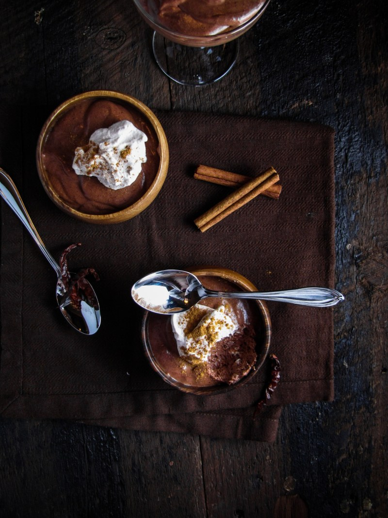 Mayan Chocolate Mousse (and a chocolate giveaway from Katie at the Kitchen Door)
