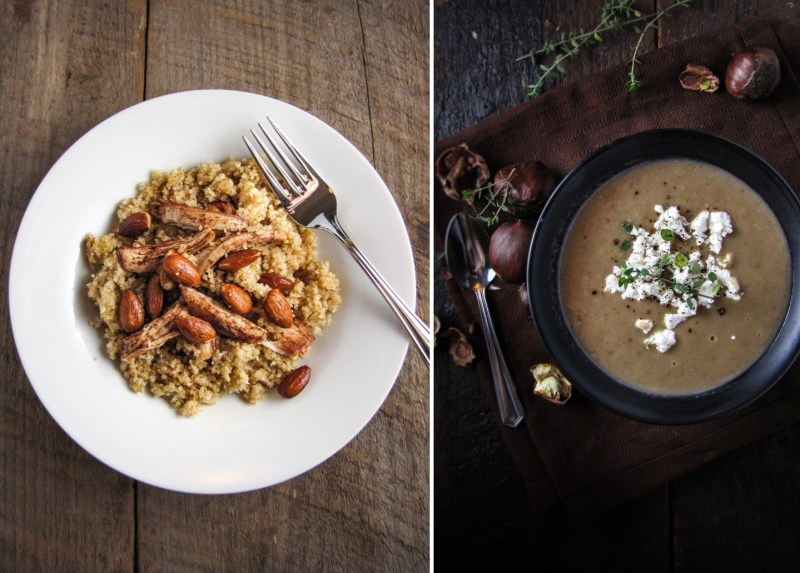 Bulghur and Cinnamon Chicken, Chestnut Soup - Winter Cleanse Week One