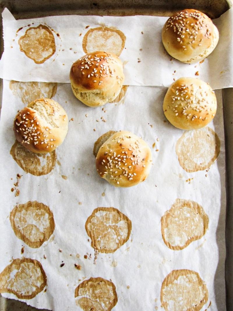 Homemade Slider Buns {Katie at the Kitchen Door}