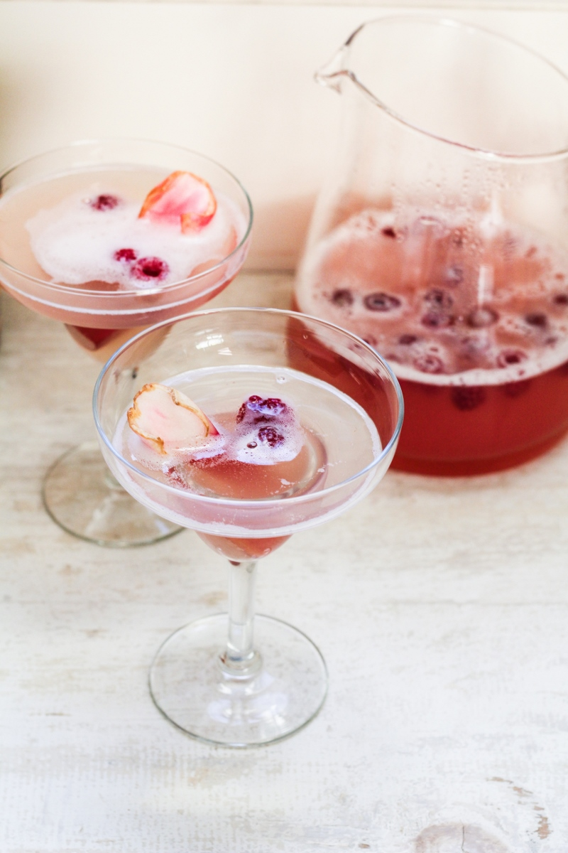 Rhubarb-Prosecco Spritzer {Katie at the Kitchen Door}