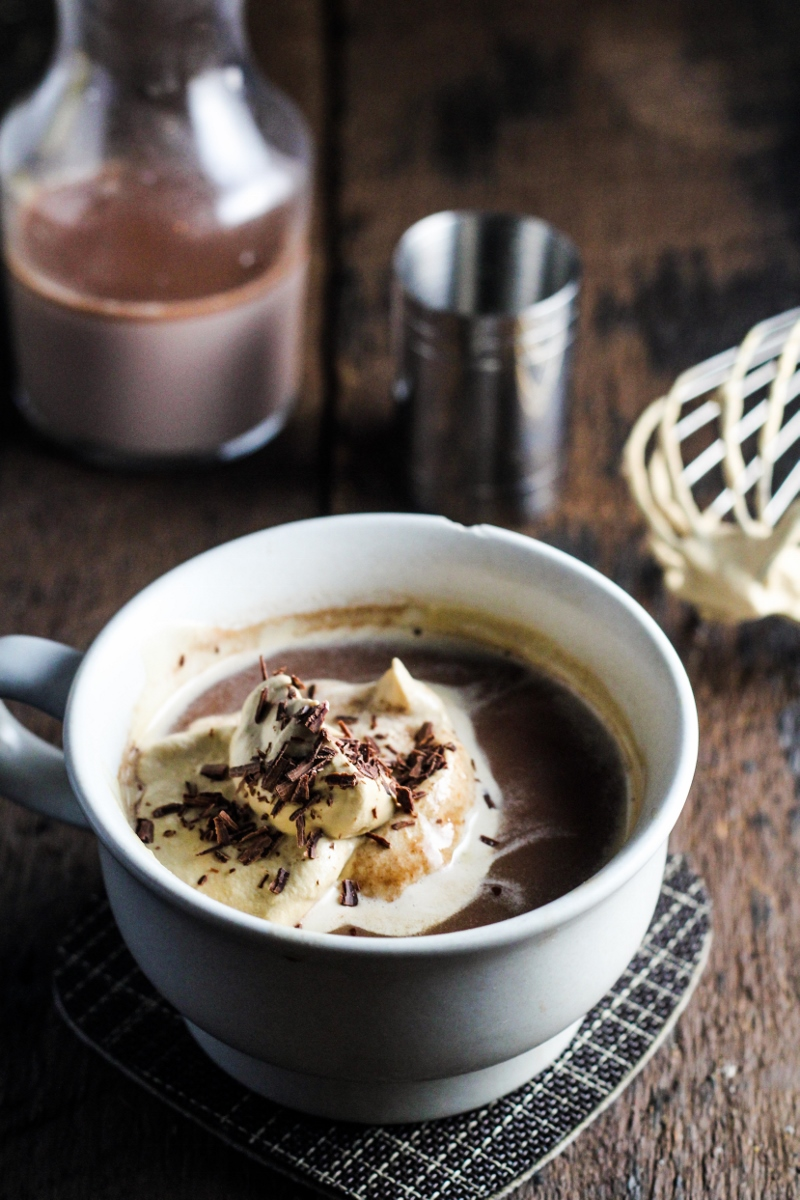 Frangelico-Spiked Nutella Melt with Espresso Whipped Cream {Katie at the Kitchen Door}
