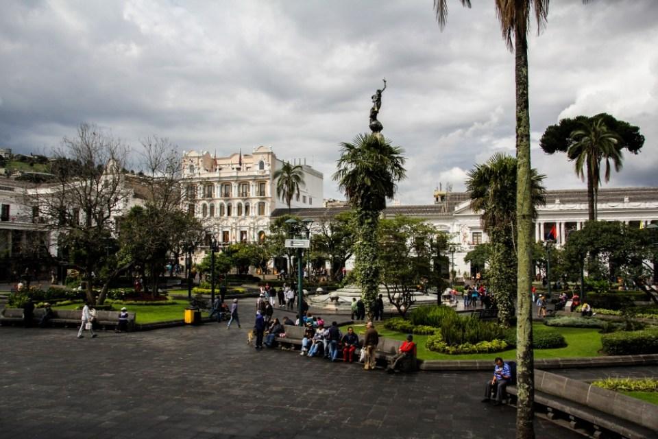 Ecuador Travelogue: Quito - Plaza de la Independencia {Katie at the Kitchen Door}