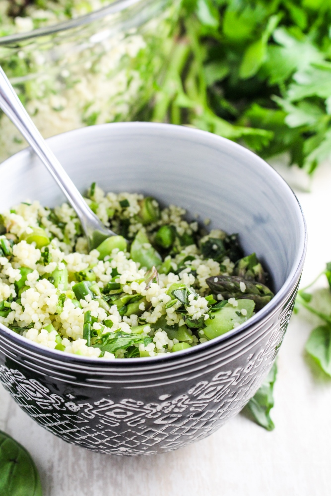 Herb-Flecked Spring Couscous {Katie at the Kitchen Door}