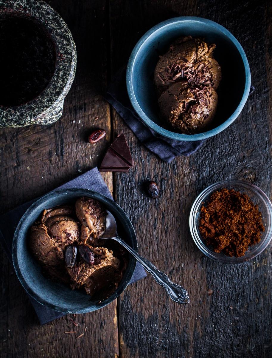 Mayan Chocolate Frozen Custard {Katie at the Kitchen Door}