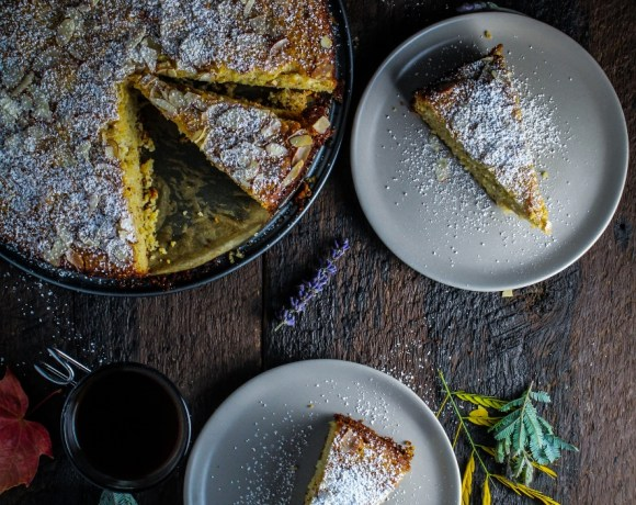 Book Club: Green Kitchen Travels // Ricotta and Polenta Almond Cake