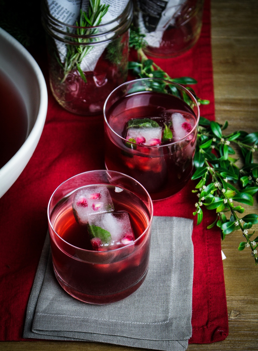 Pomegranate Mojito Punch {Katie at the Kitchen Door}