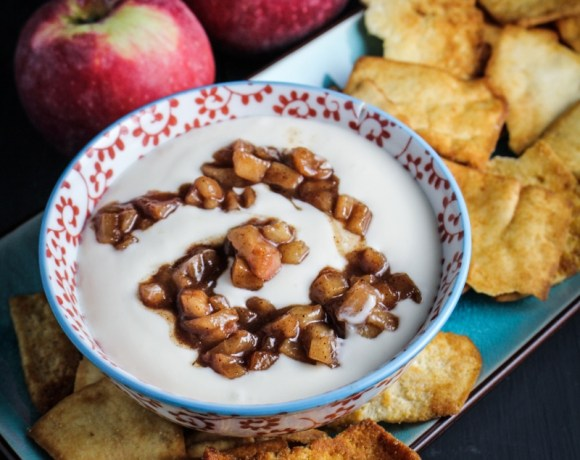Stacy's Salted Caramel Pita Chips with Cinnamon-Apple and Whipped Greek Yogurt Dip