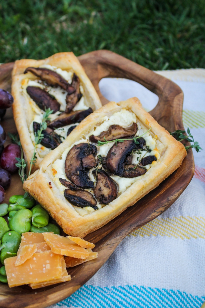 Mushroom and Goat Cheese Savory Squares - Mother's Day Picnic {Katie at the Kitchen Door}