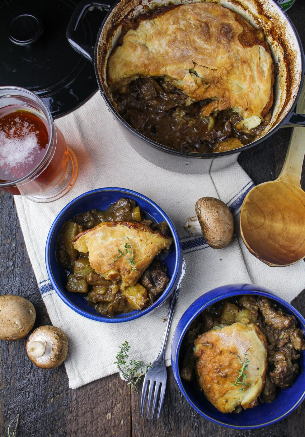 Beef, Mushroom, and Ale Pot Pie {Katie at the Kitchen Door}