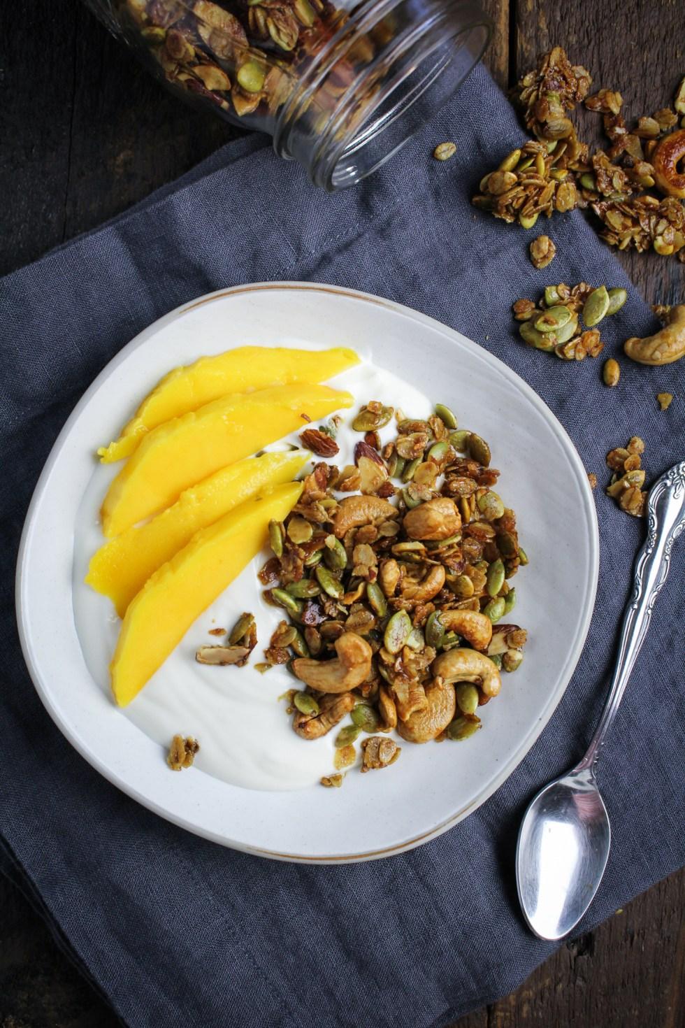 Vanilla-Cashew Granola {Katie at the Kitchen Door}