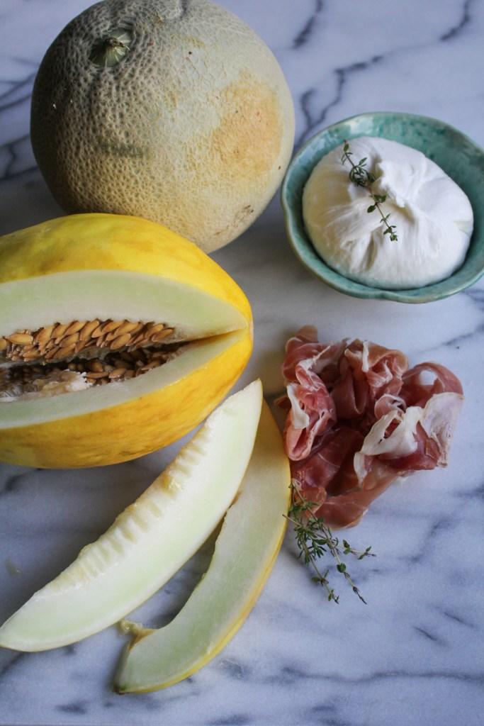 Melon, Prosicutto, Burrata {Katie at the Kitchen Door}