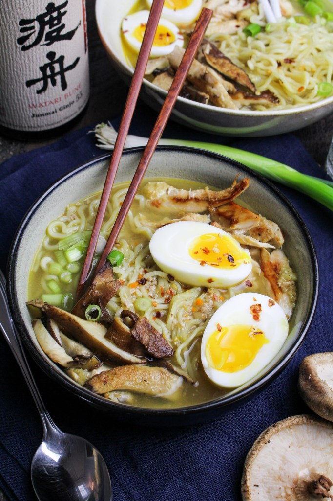 Ginger Chicken Miso Ramen {Katie at the Kitchen Door}