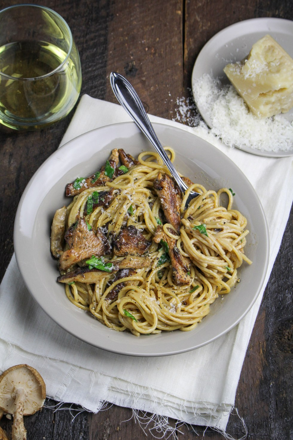 Creamy Mushroom Pasta {Katie at the Kitchen Door}
