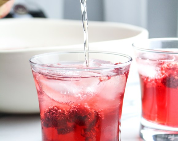 Chambord-Hibiscus Champagne Punch with Drizly