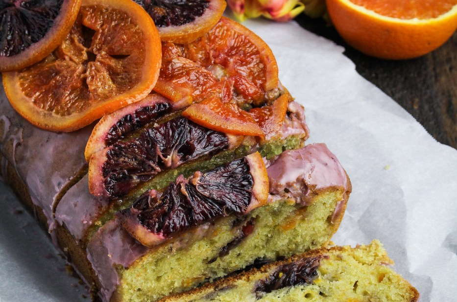 Blood Orange and Olive Oil Pound Cake