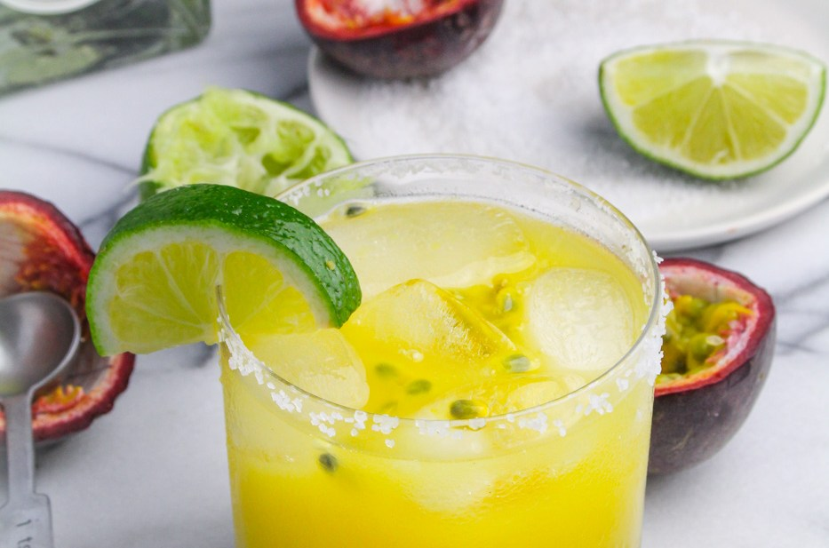Passion Fruit Margaritas for Margarita Week 2017
